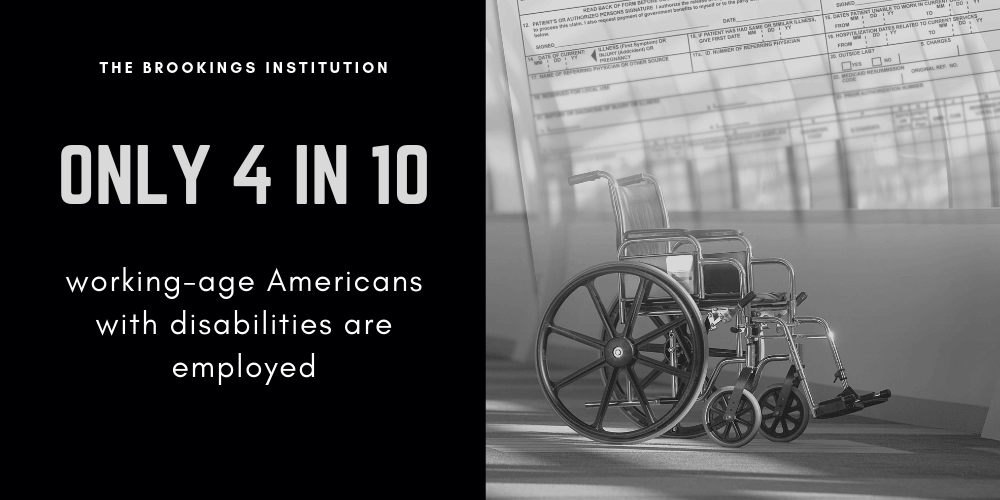 4 in 10 people with disabilities not employed