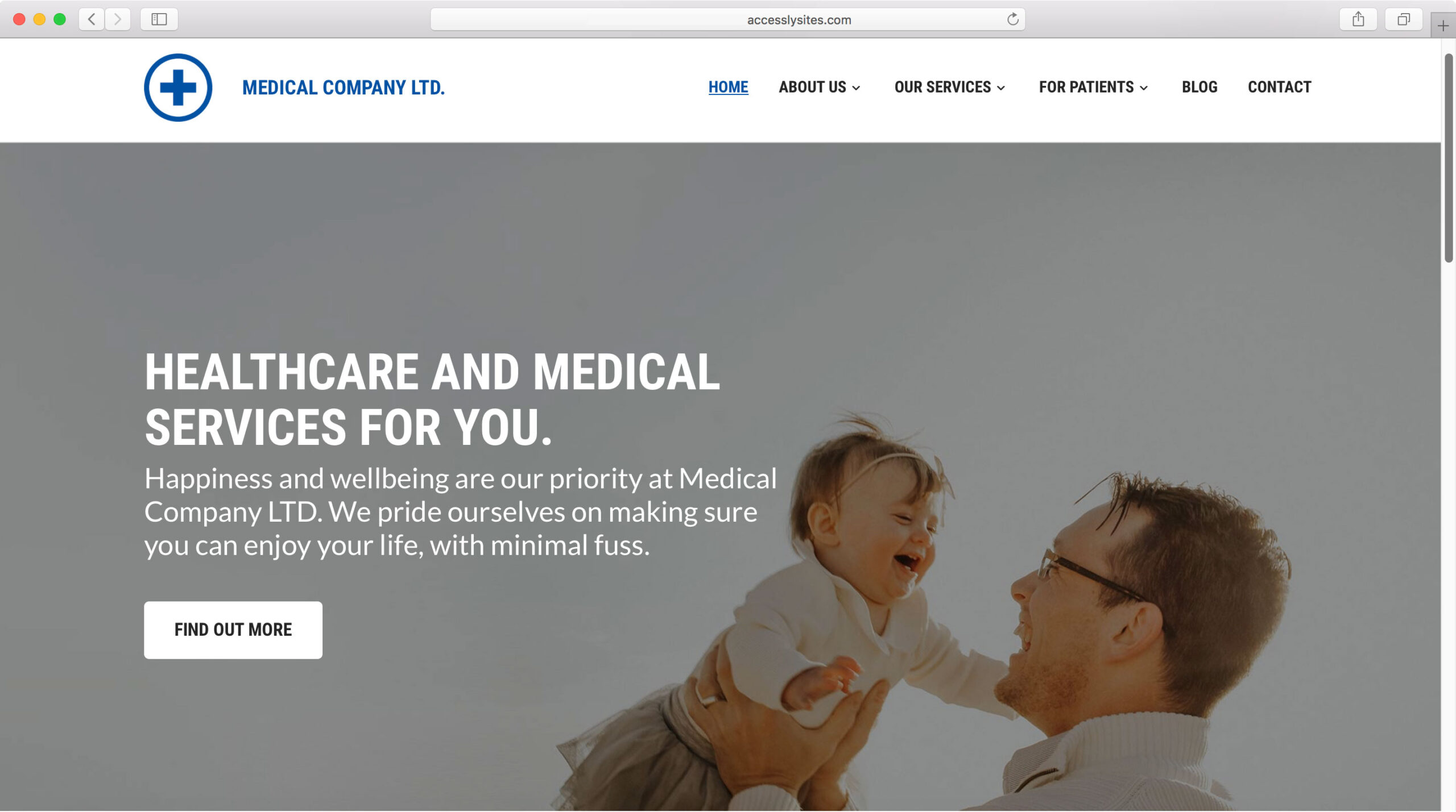 Accessly website template - Medical Clinic